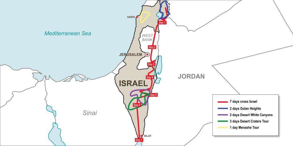 Эндуро-поход по Святой Земле Израиля